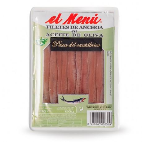 Filete de anchoa del cantábrico 90 gramos